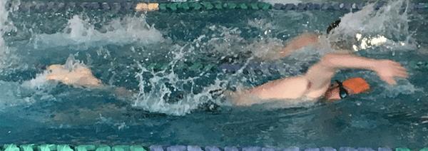 John swimming freestyle